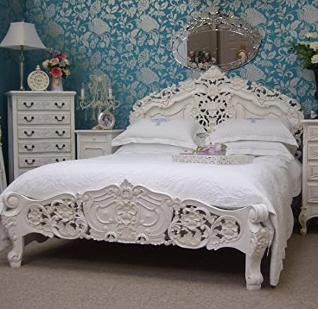 Terrific Versailles French Rococo Antique White 6Ft Super King Bed Best Image Libraries Sapebelowcountryjoecom