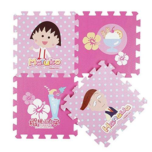 9 Pcs Kids Crawling Rug Cartoon Floor Mat Baby's Game Carpet Eva Foam Puzzle Mat Maruko