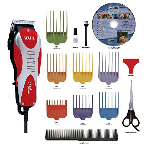 Wahl Professional Animal Deluxe U Clip Pet Clipper Trimmer Grooming Kit For Dogs Cats And Pets Hair Fur  9484 300