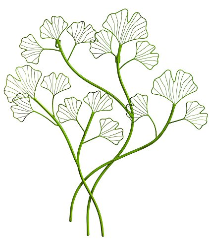 New Creative Gingko Leaf Outdoor Safe Metal Wall Art (Wall New Metal)