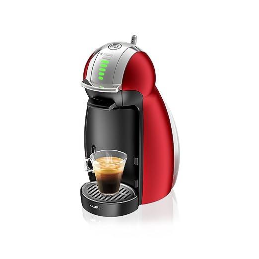 Krups Dolce Gusto Genio 2 KP1605 - Cafetera de cápsulas,15 bares de presión, 1500 W, color rojo