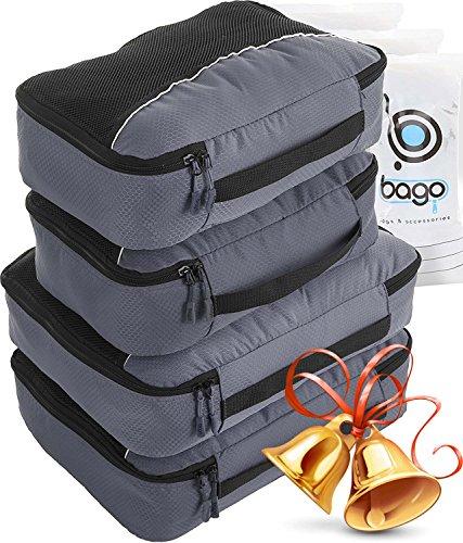 Bago Packing Cubes 4pcs Value Set for Travel