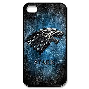 Game of throne Stark clan family wolf silver logo Hard Plastic Case for iPhone 5 5s case