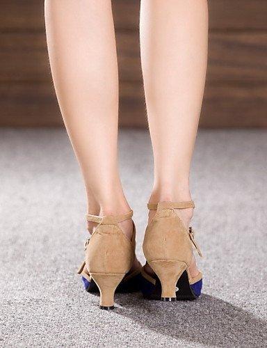 fuchsia Verni Cuir Autre Chaussures Personnalisables Jazz de ShangYi danse Non Cuir Talon Cubain Latine xfgZw6Rw
