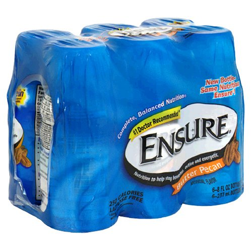Ensure Nutrition Drink, Butter Pecan, 6-8 fl oz (237 ml) bottles [1.5 qt (1.42 l)]