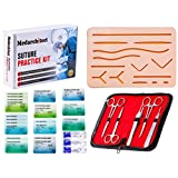 Large 3-Layer Suture Pad with Wounds for Practicing Suturing - Not Easily Separate, Tear or Rip (Complete Kit)