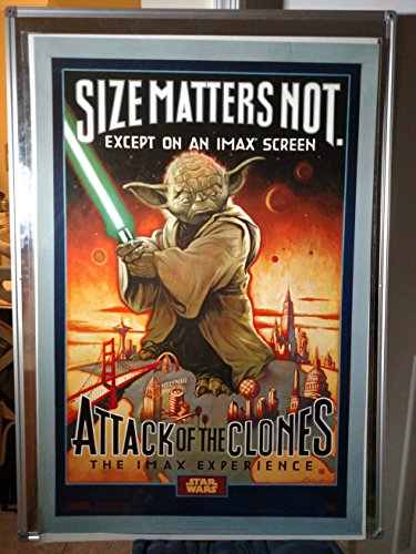 Star Wars Attack Of The Clones IMAX Yoda Original Double Sided Rolled 27x40 Movie Poster 2002