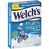 yogurt snacks - Welch's Blueberry Fruit 'n Yogurt Snacks 6.4oz, one box