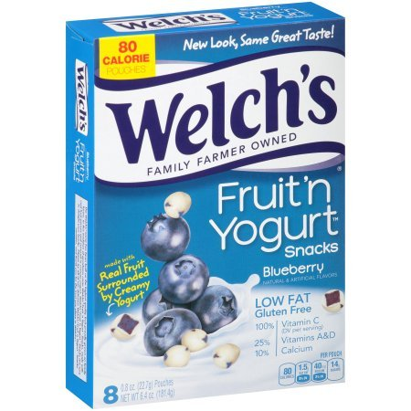 Yogurt Fruit And - Welch's Blueberry Fruit 'n Yogurt Snacks 6.4oz, one box