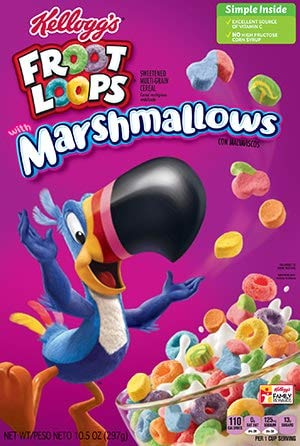 Kelloggs Froot Loops with Marshmallows 297g - Fruit Loops