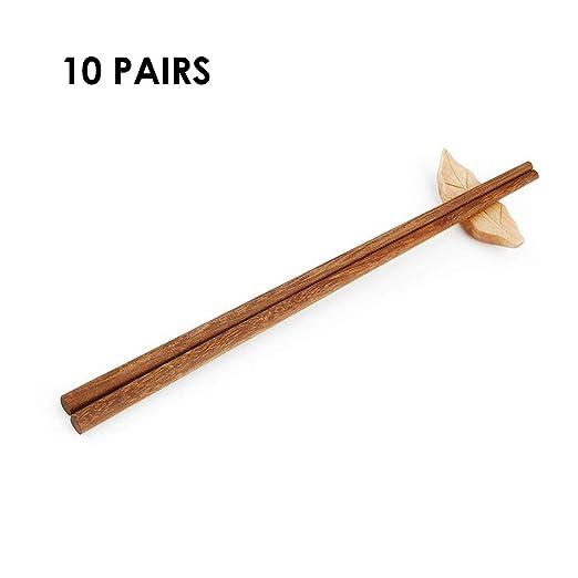 Weisika Palillos Japoneses 10 Pares Palillos Naturales ...