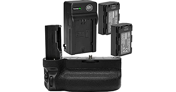 Includes Qty 1 BM Premium NP-FZ100 Battery VG-C3EM Replacement Battery Grip A7RIII Digital SLR Cameras A7III Rapid AC//DC Battery Charger Battery Grip Kit for Sony Alpha A9