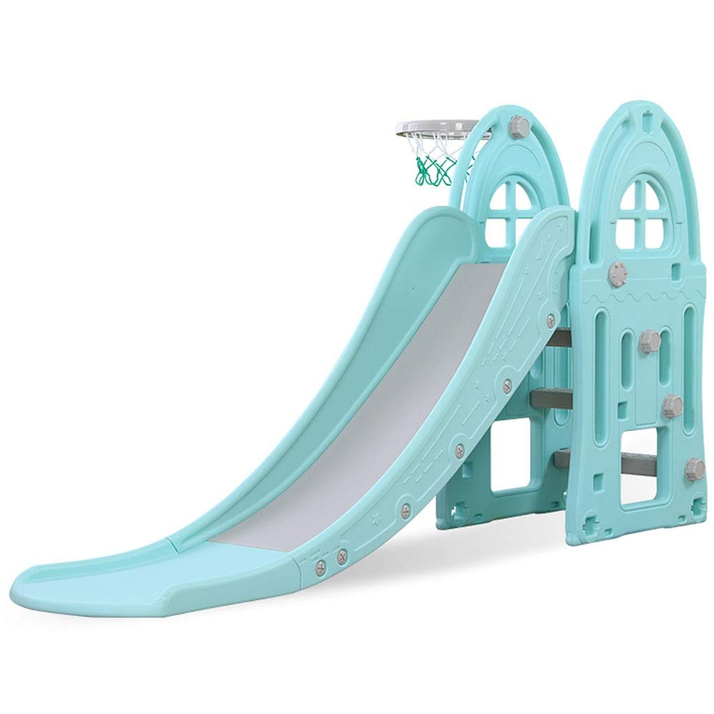 Freestanding Slides Slide Children's Indoor Slide Combination Baby Baby Slide Outdoor Children's Toys Kindergarten Long Small Toys Playground Children's Gifts (Color : Blue, Size : 185x98cm)