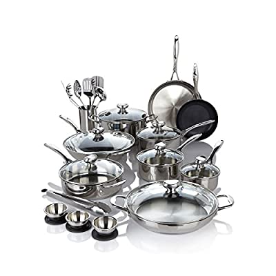 NEW REboxed Wolfgang Puck Bistro Elite 27-piece Stainless Steel Cookware Set