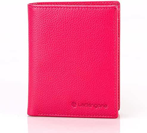 Slim & Soft RFID Blocking Wallet, Trifold Genuine Leather Purse with 2 Cash Compartment And 15 Card Solts by Lackingone, Credit Card Protector with ID Windows or Photo Slot (4.33
