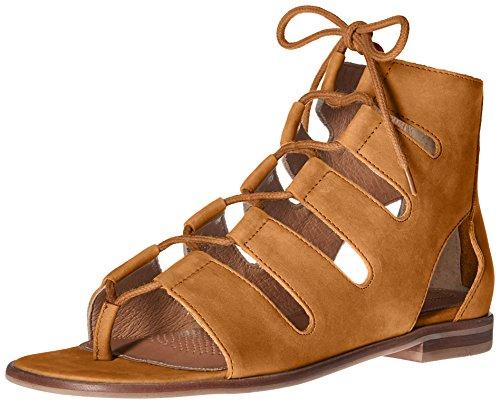 Corso Como Womens Sunrise Sandalo Piatto Cammello Nubuck