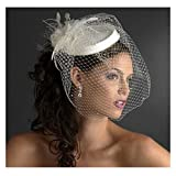 EllieHouse Women's Vintage Short Blusher Bridal Hat Birdcage Wedding Veil V03