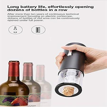 Sacacorchos eléctrico, Cocina del hogar Vino tinto con sacacorchos automático LED, Tipo de batería seca Botella de vino removedor de corcho (rojo)