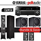 Yamaha RX-A3060BL AVENTAGE 11.2-Channel Network A/V Receiver + Polk Audio TSi 500 + Polk Audi TSi 200 + Polk Audio CS10 + Polk Audio PSW125 - 5.2-Ch Home Theater Package