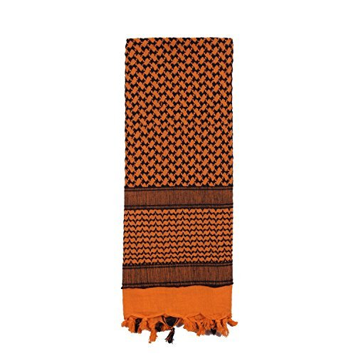 8537 Rothco Shemagh Tactical Desert Scarf (Orange/Black)