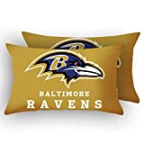 MT-Sports Football Team Super Bowl Throw Pillow Covers Pillow Cases Two Size Decorative Pillowcase Protecter with Zipper Without Insert Set of 2