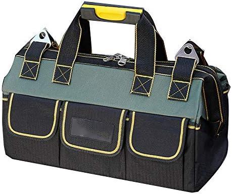 道具袋 ヘビーデューティツールハンド/パワーツールジップトップ用バッグダッフルバッグ多機能ツールの収納袋オーガナイザー ツール収納袋 (色 : Black, Size : 18inch)