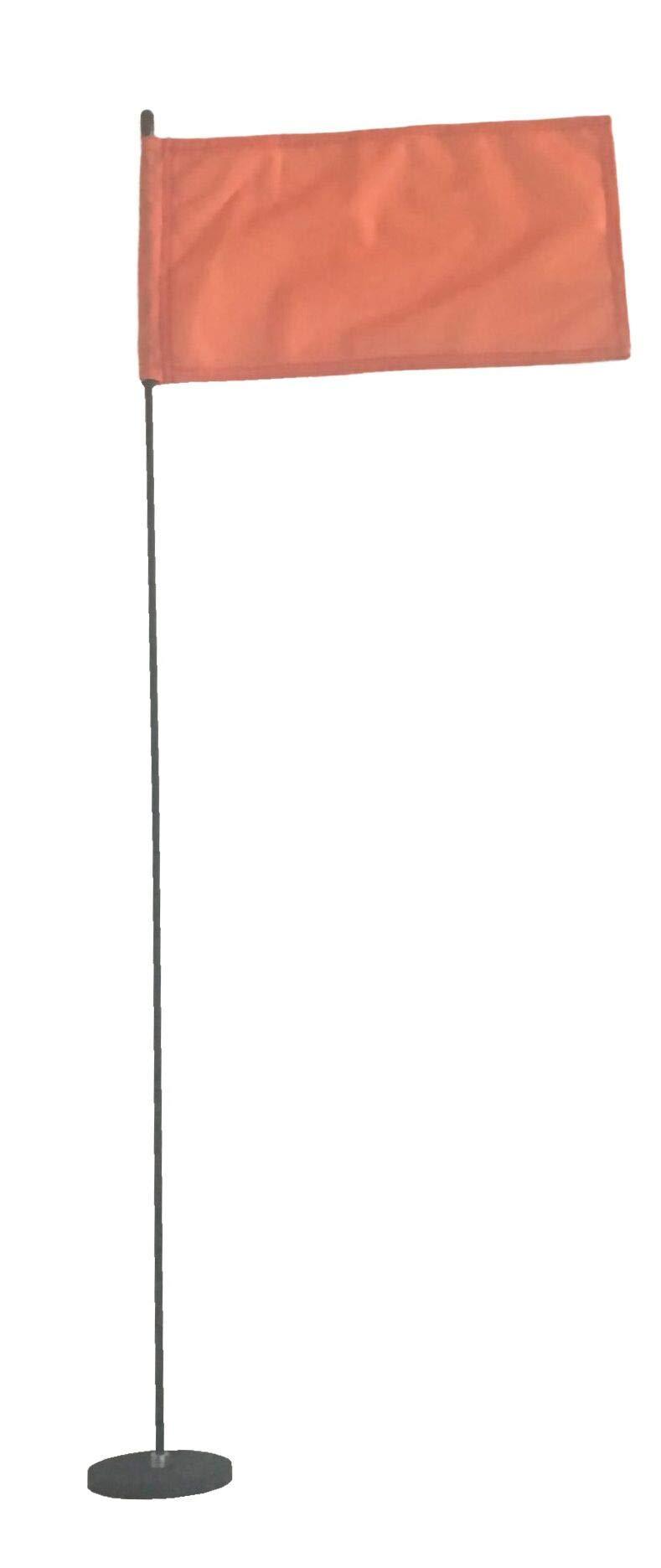 Magnetic Base Flag Holder - Hold Force 44 lbs. Flex Steel Spring Pole 36 inch (8 x 13) Orange Flag