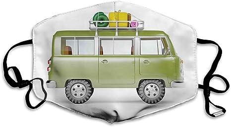 DYCBNESS Face Cover Wohnmobil Camping Bus Wiederverwendbare Anti-Staub-Mund-Bandanas mit 6 Filtern