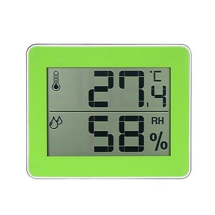 MagiDeal Termómetro Interior Digital Higrómetro Medidor de Temperatura Verde para Casa Hogar