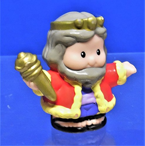 Fisher Price Little People Lil' Kingdom Figure King w/ Red & Yellow Robe (The Kingdom Of The Yellow Robe)