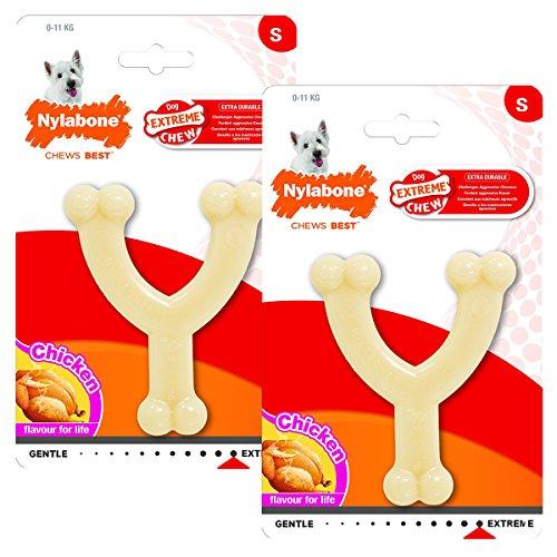 Nylabone Dura Chew Regular Original Flavored Wishbone Dog Chew Toy (2 Pack)