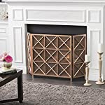 Mandralla 3 Panelled Iron Fireplace Screen (Copper) from GDF Studio