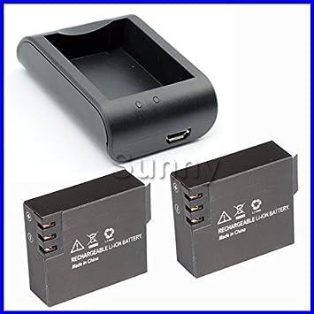 ARBUYSHOP SJ4000 SJ 4000 de la batería (2-Pack) + cargador ...