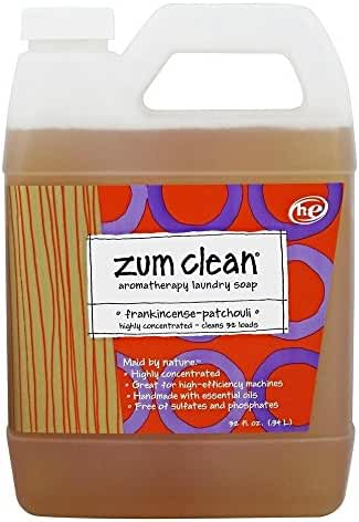 Zum clean laundry soap - frankincense & patchouli, 32 Fluid Ounce