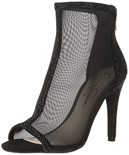 Jessica Simpson Women's ENERGEE Pump, Black mesh, 8.5 Medium US