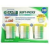 Sunstar GUM Soft-picks with Convenient Travel Cases, 3 Packs, 240 Picks