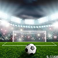 5x7ft Vinyl Soccer Football Green Field Pitch Photography Studio Backdrop Background