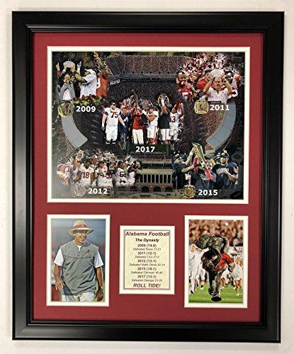 Legends Never Die NCAA Alabama Crimson Tide 2017 Football Dynasty Framed Photo Collage, 18 x 22