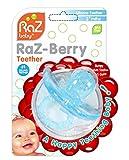#7: RaZbaby RaZ-Berry Silicone Teether / Multi-texture Design / Hands Free Design / Light Blue