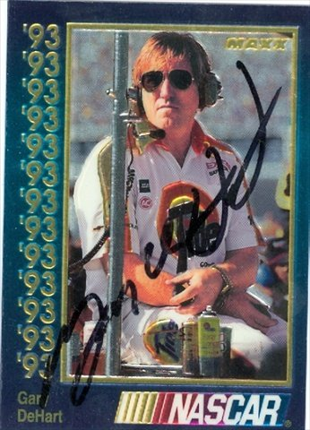 Autograph Warehouse 41235 Gary Dehart Autographed Trading Card Auto Racing 1993 Maxx No. 133 from Autograph Warehouse
