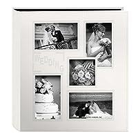 Álbum de fotos de la funda de piel sintética cosida en relieve con marco de collage de Pioneer, marfil