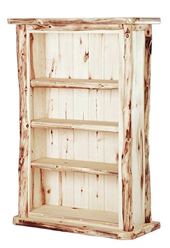 Mountain Woods Furniture Aspen Heirloom Collection 3 Shelf Bookcase, Bronze Aspen Finish