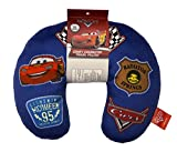 Disney/Pixar Cars Badges Blue Travel Neck Pillow with Lightning McQueen (Official Disney/Pixar Product)