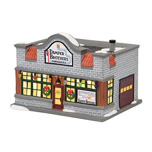 department 56 a christmas story village furnace repair ornament lit house 512 inch - Ceramic Christmas Houses