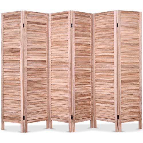 Divider Room Venetian - Abbeydh 6 Panels Classic Venetian Wooden Slat Room Screen