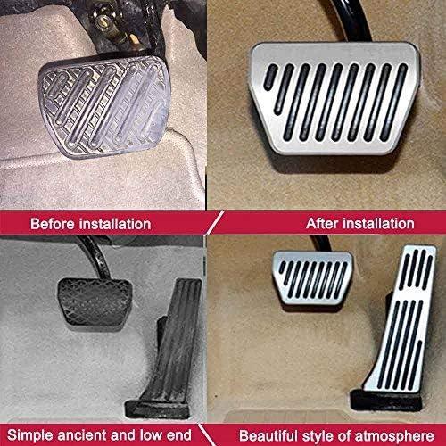 SLONG Brake Pedals for BMW Mini Cooper 2001-2011 Gas Fuel Brake Aluminum 4PCS