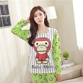 Amazon.com: MH-RITA Monkey Style Pajama Sets Long Sleeve
