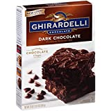 Ghirardelli Dark Chocolate Brownie Mix, 20-Ounce Boxes (Pack of 4)