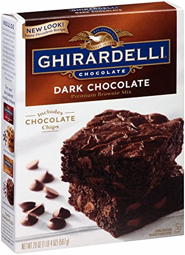 Mix Dark Chocolate - Ghirardelli Dark Chocolate Brownie Mix, 20-Ounce Boxes, Pack of 4