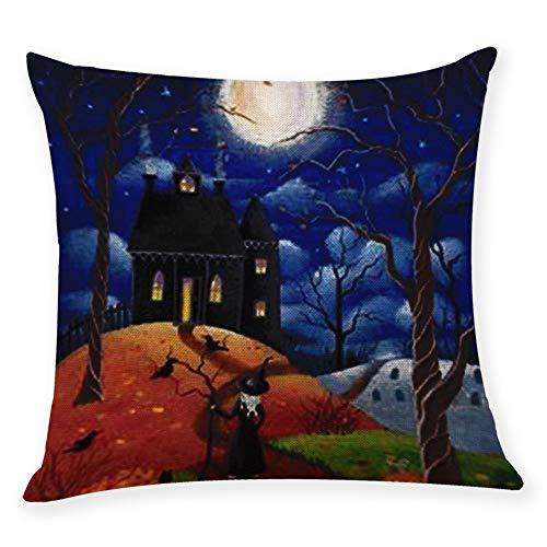 HomeMals Bedroom Custom Decor Happy Halloween Pillowcase Soft Zippered Throw Pillow Cover Cushion Case